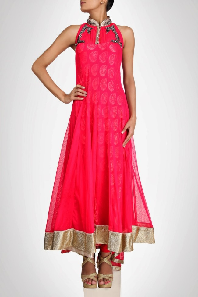 Amazing-Style-Designer-Wedding-Anarkali-Churidar-Frock-And-Sarees-Dress-by-Gaurav-Gupta-3