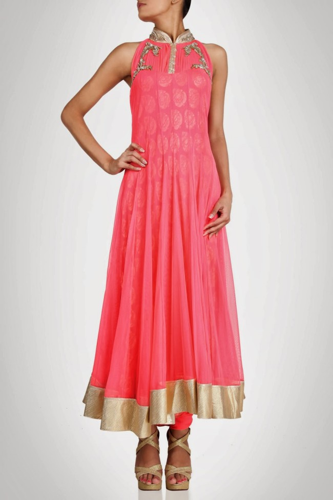 Amazing-Style-Designer-Wedding-Anarkali-Churidar-Frock-And-Sarees-Dress-by-Gaurav-Gupta-4