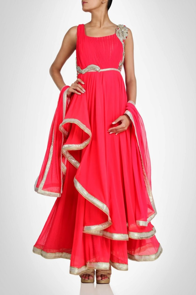 Amazing-Style-Designer-Wedding-Anarkali-Churidar-Frock-And-Sarees-Dress-by-Gaurav-Gupta-5