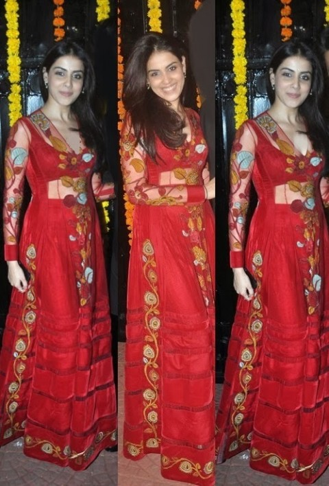 Genelia  Wear Beautiful Diwali Dress Party Celebration-